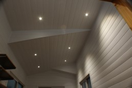 white pine ceiling