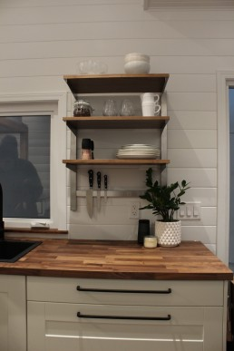 Open Shelving tiny home