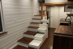 Custom stair cabinet